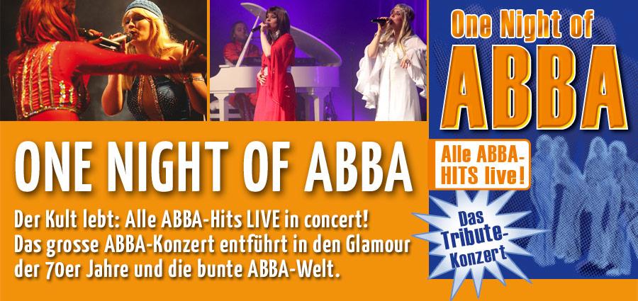 One Night of ABBA - Der Kult lebt weiter: Die große ABBA-Party!